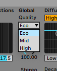 Ableton Reverb in ECO Mode