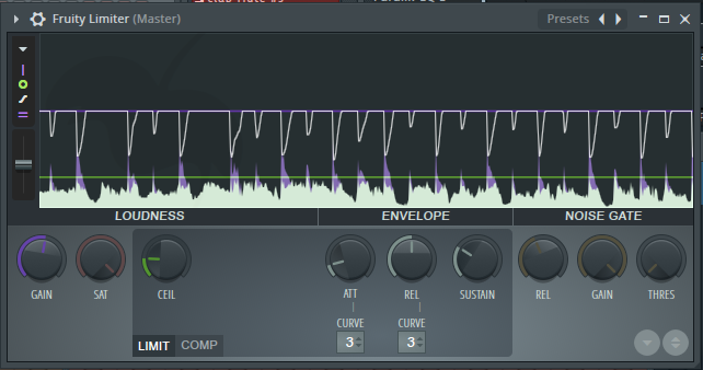 FL Studio limiter effect device