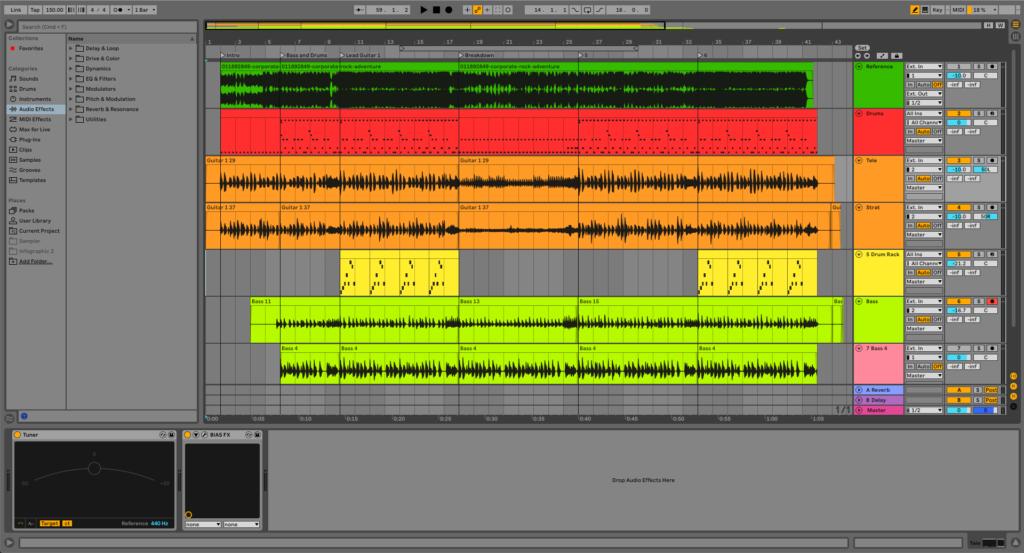 Ableton Live 11 workflow screenshot