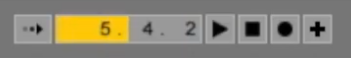 The pulsing transport bar of the arrangement view when Ableton Link is turned on