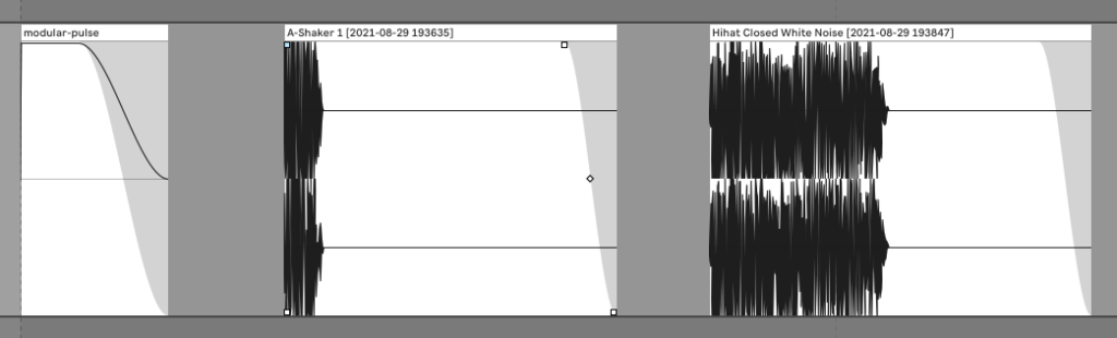 Audio pulse examples in Ableton Live